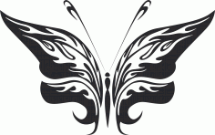 Tribal Butterfly Vector Art 25 DXF File