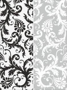 Sandblast Pattern Floral Free Vector