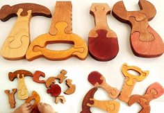 Instruments Wooden Jigsaw Puzzle CDR File