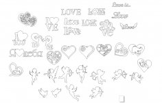 Valentine's Day February 14 Vectors CDR File