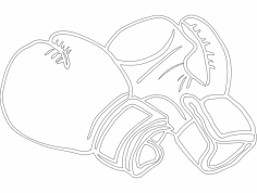 Boxing Gloves dxf File