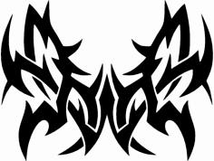 butterfly tat dxf File