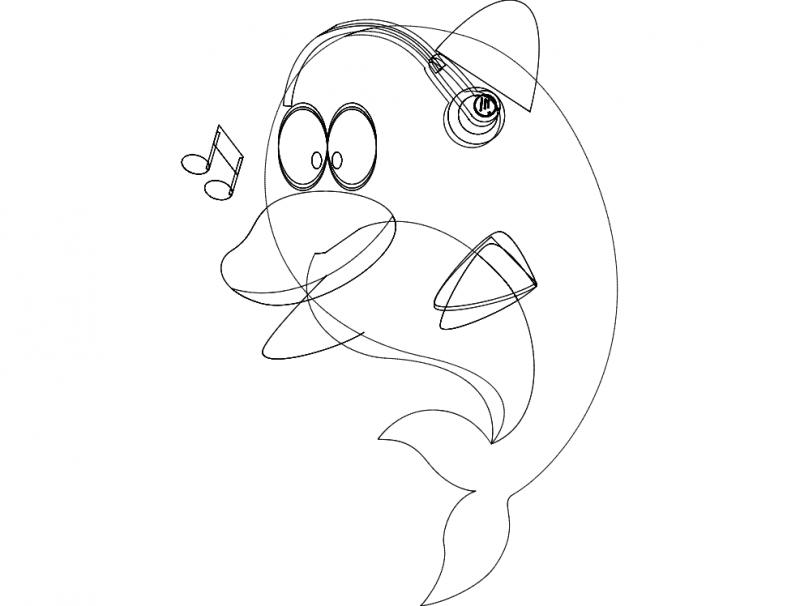 Fish Music dxf File