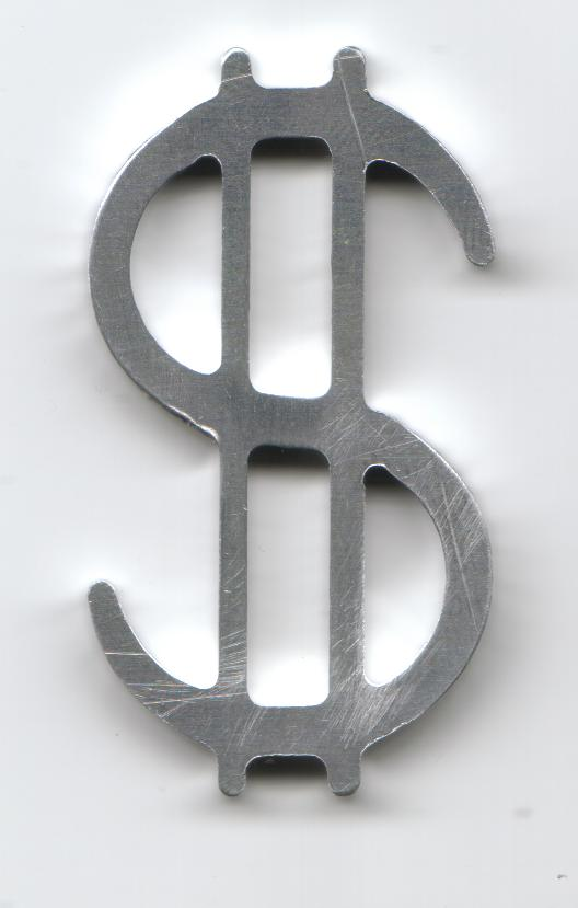Dollar Sign dxf File