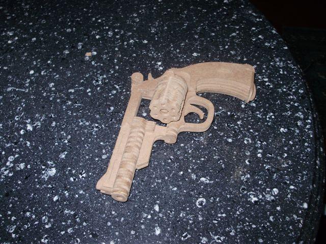 Bulldog Revolver Model Flat dxf File