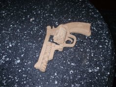 Bulldog Revolver Model Flat dxf File