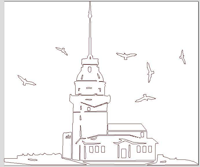 Kiz Kulesi dxf File