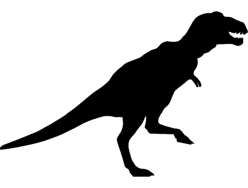 Trex Dinosaur Silhouette Dxf File Free Download 3axis Co