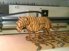 Tiger 3d Puzzle CDR File