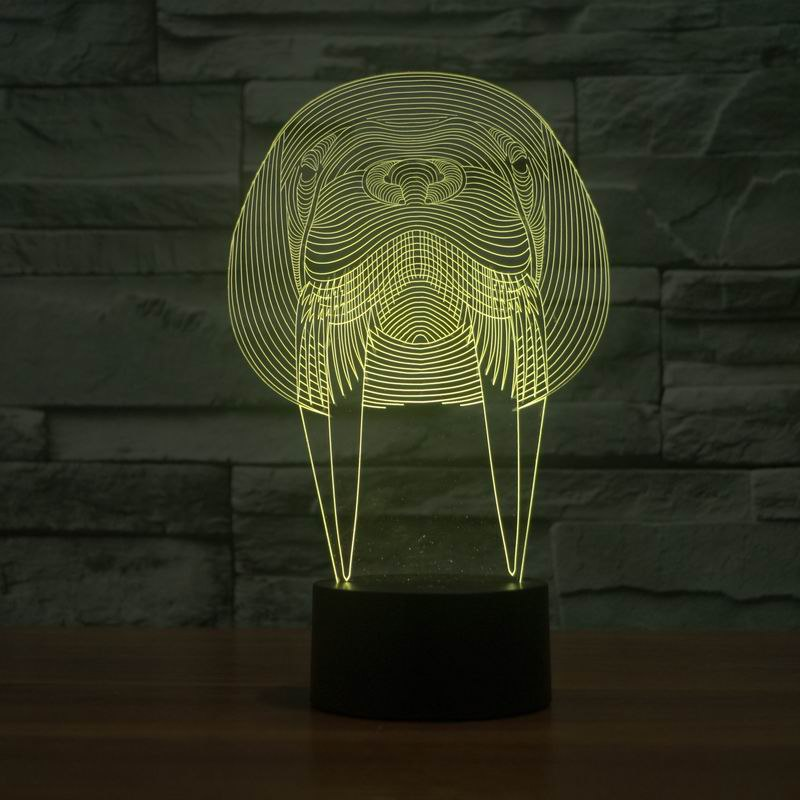 Walrus Animal 3D Lamp Vector Model Free Vector