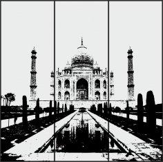 Sandblasting Design Taj Mahal Free Vector