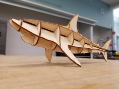 Laser Cut Shark Free Vector