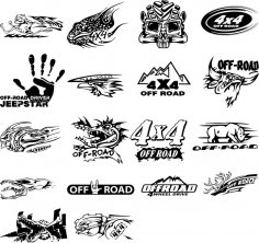 Stickers for car Free Vector