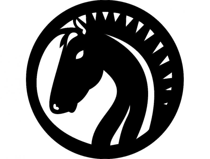 Design Horse Fil 0009 dxf File