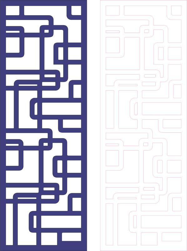 Decorative Pattern for Divider dxf File