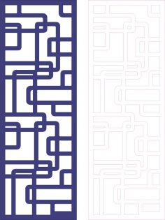 Decorative Pattern for Divider dxf File