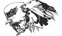 Predatory Bird Eagle Vector CDR File