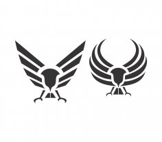 Eagle Wings Abstract Vector Art Free Vector