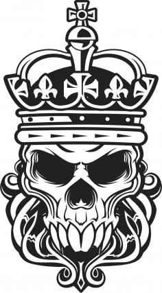 Skull King Vector Art Free Vector