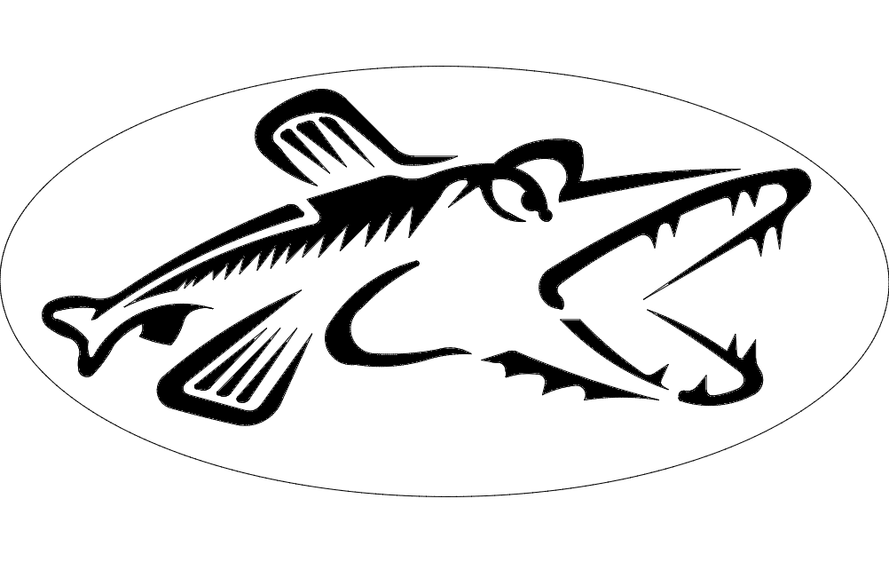 Northern Pike Fish Silhouette dxf File