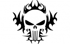 Punisher Tribal 24×24 dxf File