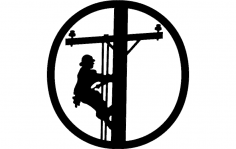 Lineman Hitch cover dxf File