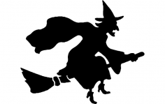 Witch Silhouette dxf File
