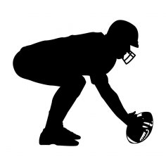 American Football Player dxf File
