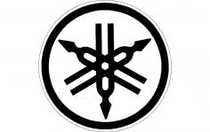 Yamaha Logo Vector 2 dxf File