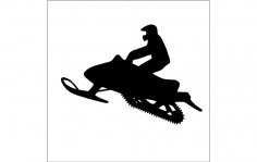 Snowmobile Silhouette dxf File