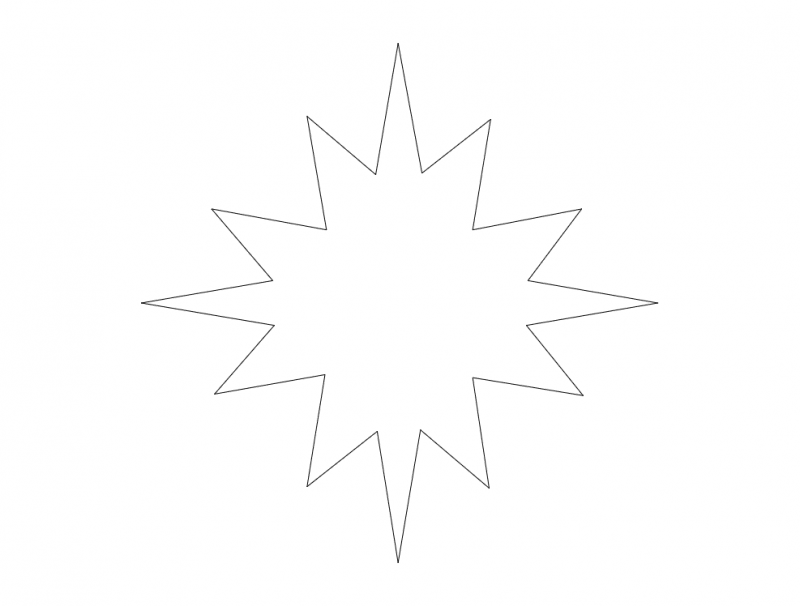 Star 12pt dxf File