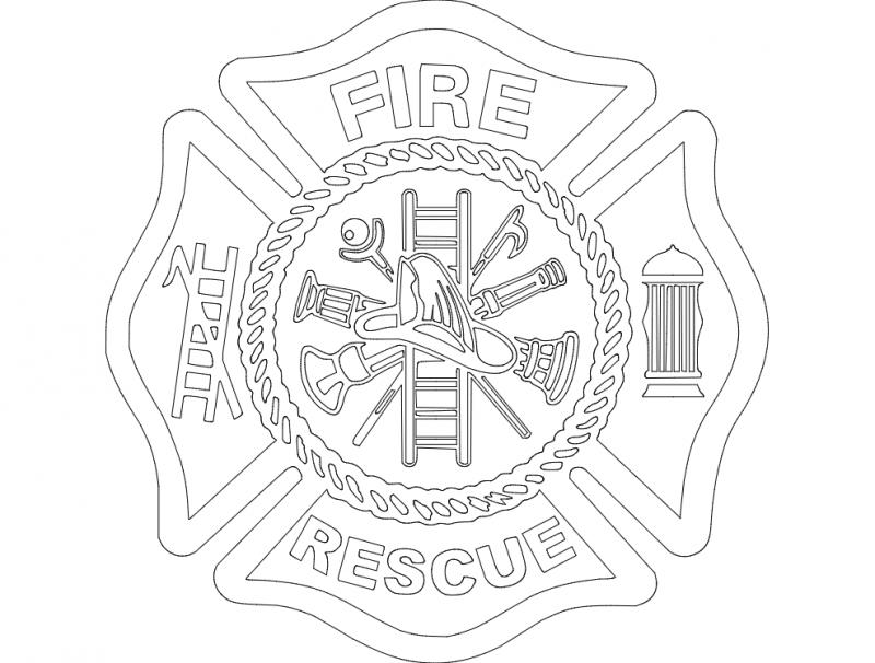 Fire Logo dxf File