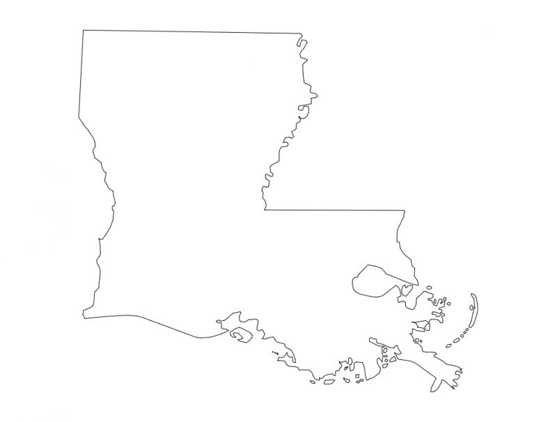 Map of Louisiana (LA) dxf File
