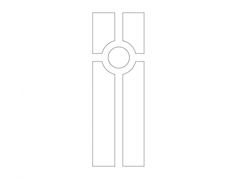 Mdf Door Design 6 dxf File