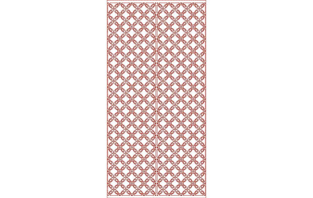 Ornamental Panel 5 dxf File