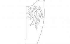 Horse Bracket Flipped Right dxf File