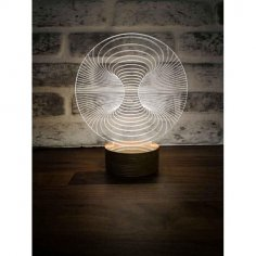 3D Illusion LED Lamp DXF File