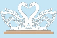 Swan Napkin Holder Laser Cut CNC Plans PDF File