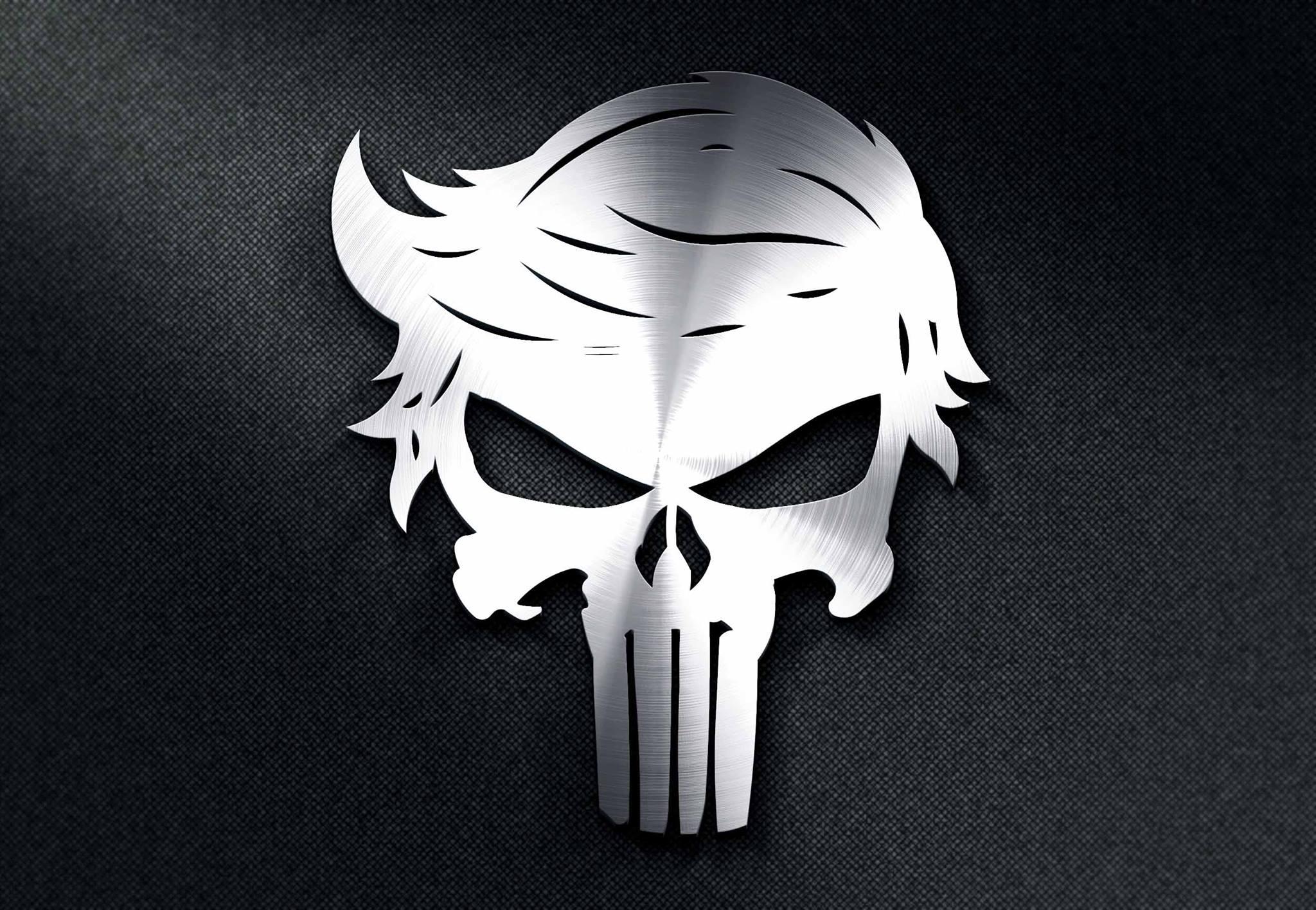 TRUMP Punisher Skull DXF File