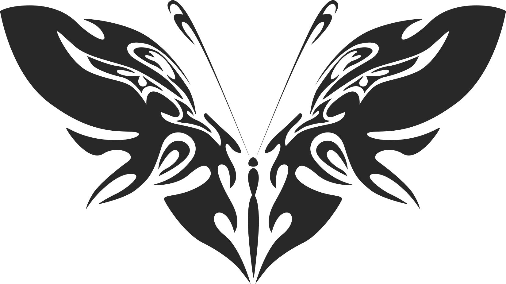 Tribal Butterfly Vector Art 42 DXF File