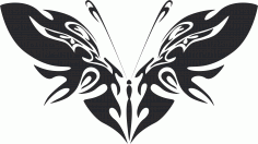 Tribal Butterfly Vector Art 42 DXF File