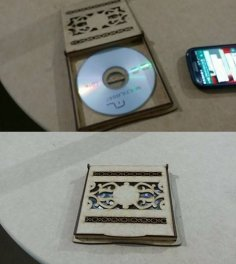 CD cover template Laser cut CDR File
