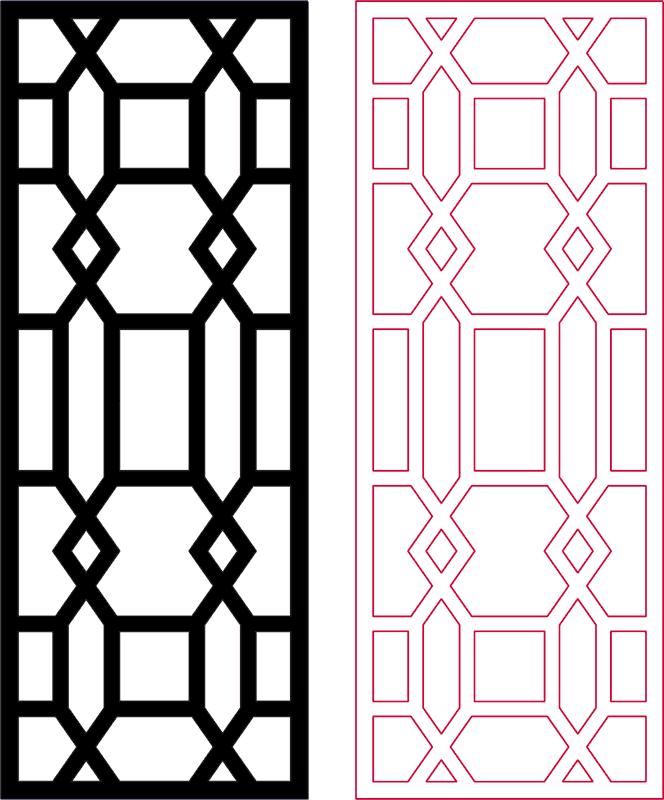 Decorative Room Divider Dxf Pattern Design DXF File