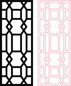 Decorative Room Divider Dxf Pattern Design DXF File