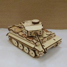Laser Cut Tank Pz Kpfw V Tiger DWG File