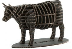 Cow 3D Puzzle DXF File