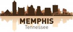 Memphis Skyline Free Vector