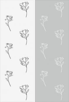 Flower Pattern Sandblast Pattern Free Vector