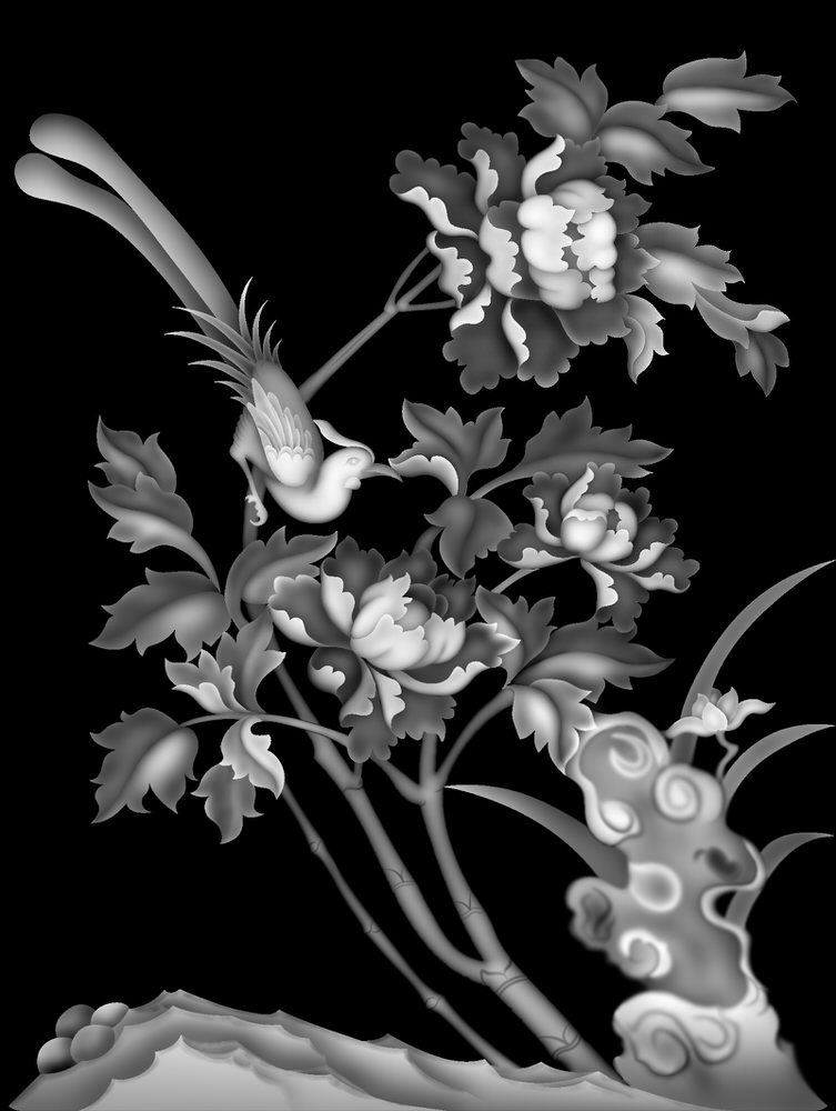 3D Grayscale Image 23 BMP File