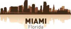 Miami Skyline Free Vector
